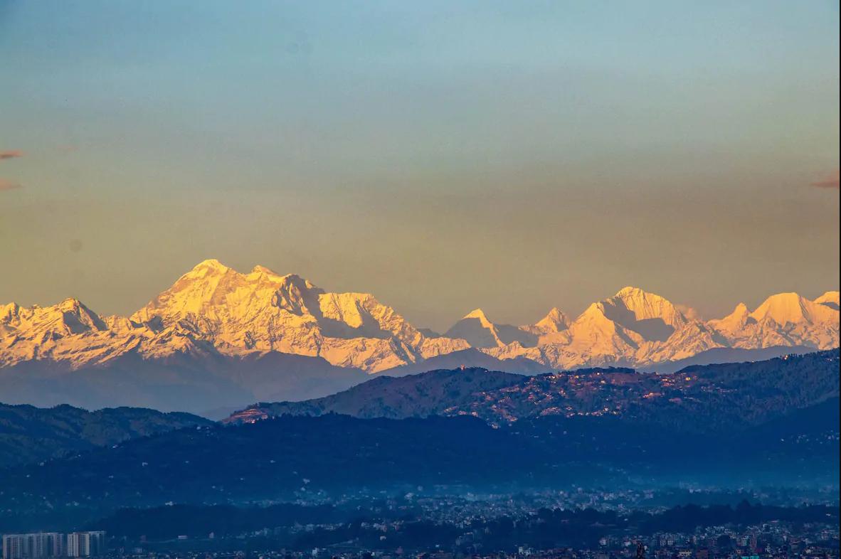 mount everest from kathmandu